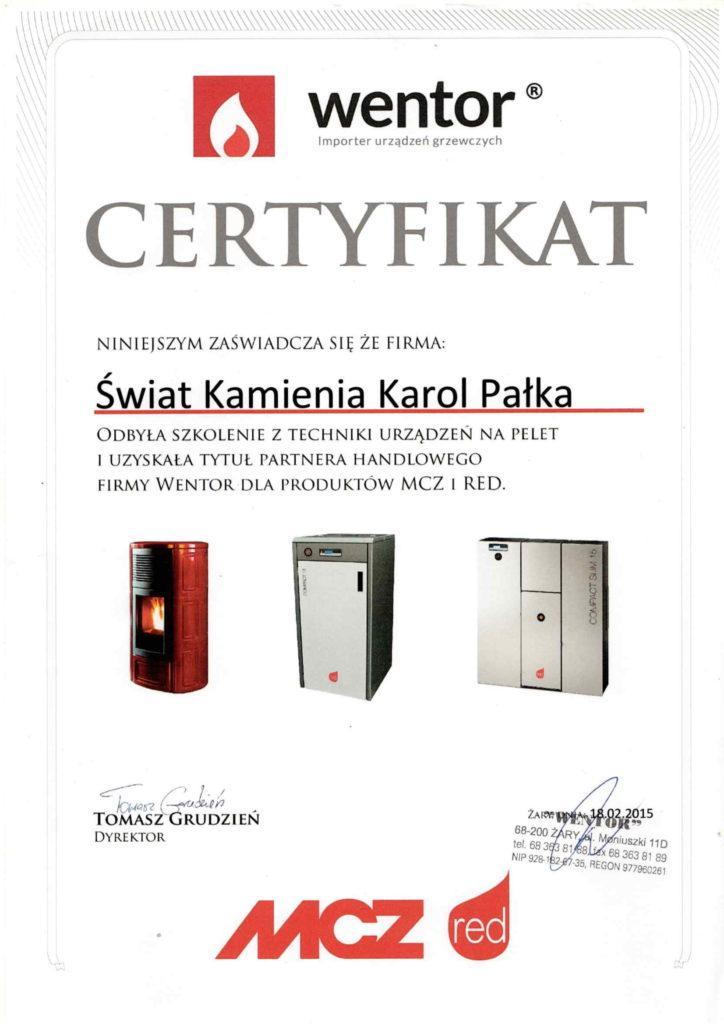 wentor certyfikat